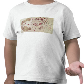 Map of the Old and New Worlds c 1500 Tee Shirts