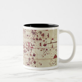 Map of the Old and New Worlds, c.1500 Two-Tone Coffee Mug