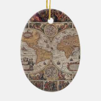 "Map of the ""Old World"" Christmas Ornament"