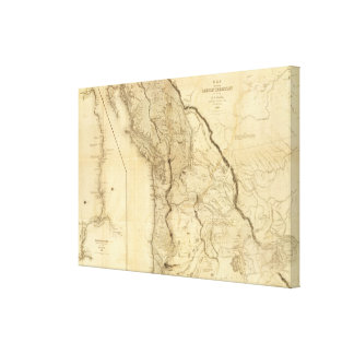 Map of the Oregon Territory 2 Canvas Print