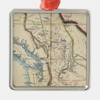 Map of the Oregon Territory 2 Christmas Ornament