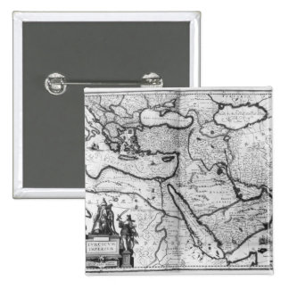 Map of the Ottoman Empire Pinback Buttons