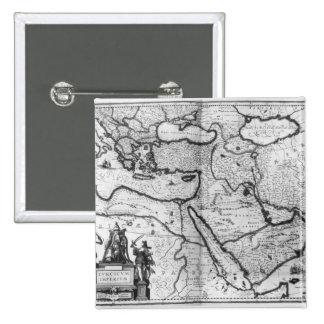 Map of the Ottoman Empire 15 Cm Square Badge