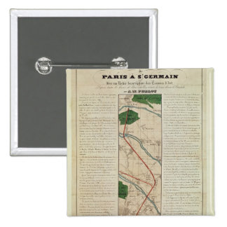 Map of the Paris to St. Germain Railway, by 15 Cm Square Badge