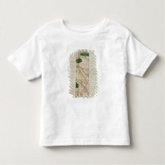 Map of the Paris to St. Germain Railway, by Toddler T-Shirt