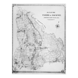 Map of the Parish of Hackney Postcard