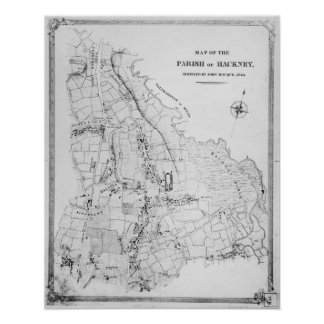 Map of the Parish of Hackney Poster