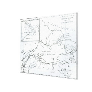 Map of the parts of Europe and Asia Canvas Print