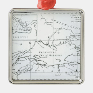 Map of the parts of Europe and Asia Christmas Ornament