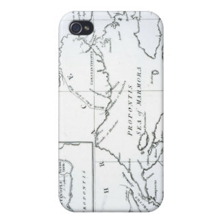 Map of the parts of Europe and Asia iPhone 4 Case