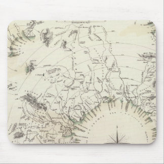 Map of the principal rivers courses mouse pad