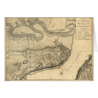 Map of the Province of Quebec Canada (1776) Card
