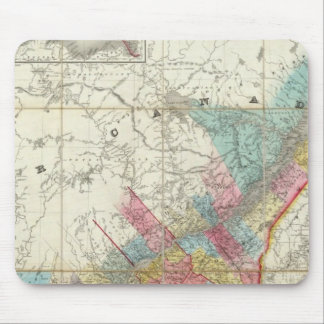 Map Of The Provinces Of Canada Mouse Mat