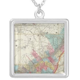 Map Of The Provinces Of Canada Silver Plated Necklace