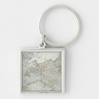 Map of the Prussian States in 1799 Key Ring