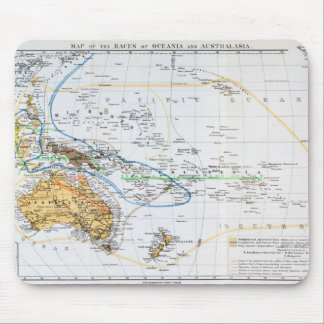 Map of the races of Oceania and Australasia Mouse Mat
