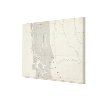 Map of the Republic of Chile 11 Canvas Print