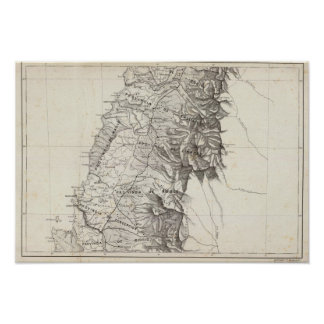 Map of the Republic of Chile 6 Poster