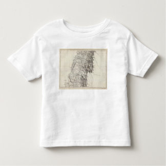 Map of the Republic of Chile 6 Toddler T-Shirt