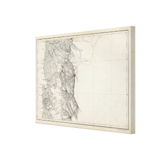 Map of the Republic of Chile 8 Canvas Print