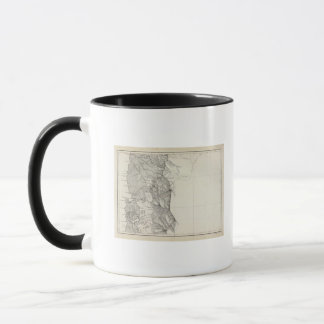 Map of the Republic of Chile 8 Mug