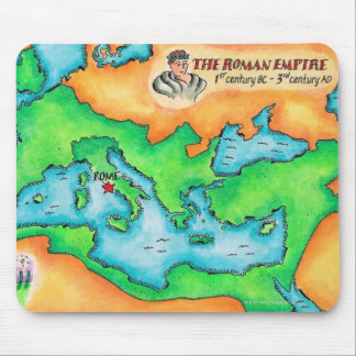 Map of the Roman Empire Mouse Mat