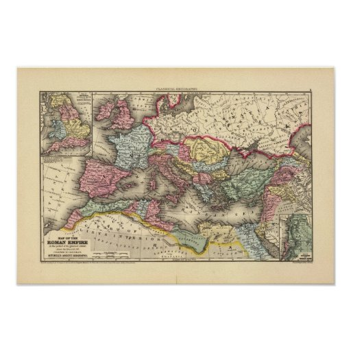 Map of the Roman Empire Posters