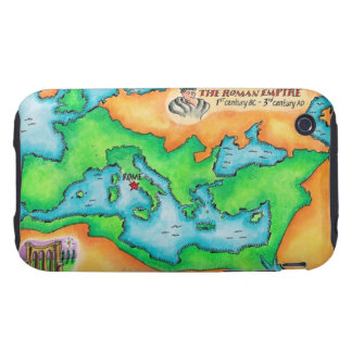 Map of the Roman Empire Tough iPhone 3 Cover