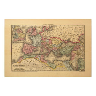 Map of the Roman Empire Wood Wall Art