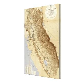 Map Of The San Joaquin Canvas Print