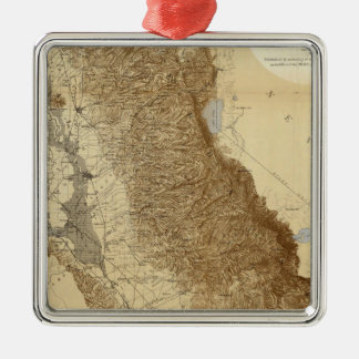 Map Of The San Joaquin Christmas Ornament