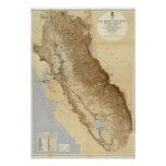 Map Of The San Joaquin Poster