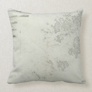 Map of the Scilly Isles in Britain Pillows