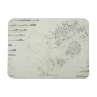 Map of the Scilly Isles in Britain Rectangle Magnets