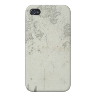 Map of the Scilly Isles in Britain iPhone 4 Case