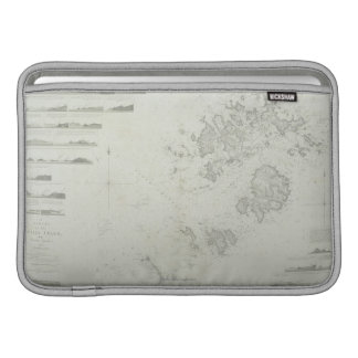 Map of the Scilly Isles in Britain MacBook Air Sleeve