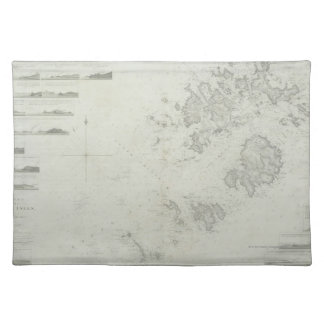 Map of the Scilly Isles in Britain Placemat