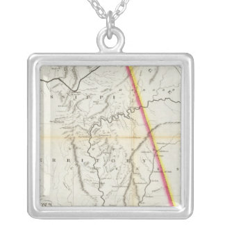 Map of the Seat of War among the Creek Indians Silver Plated Necklace
