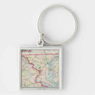 Map Of The Seat Of War Key Ring