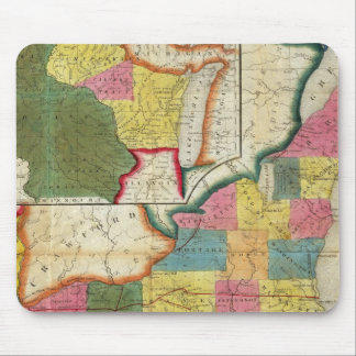 Map of the Settled Wisconsin Territory Mouse Mat