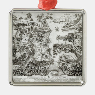 Map of the Siege of Malta in 1565 Christmas Ornament
