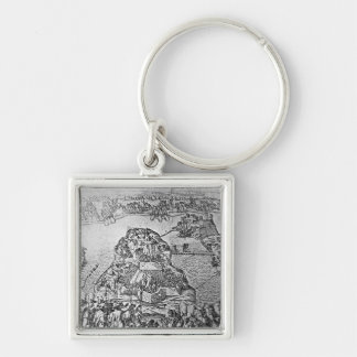 Map of the Siege of Malta in 1565 Key Ring
