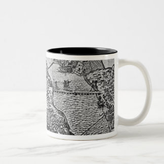 Map of the Siege of Malta in 1565 Two-Tone Coffee Mug