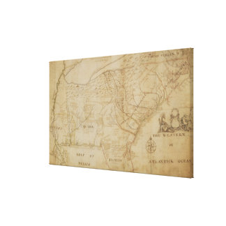 Map of the Southeastern part of North America, 172 Canvas Print