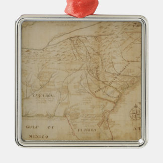 Map of the Southeastern part of North America, 172 Christmas Ornament