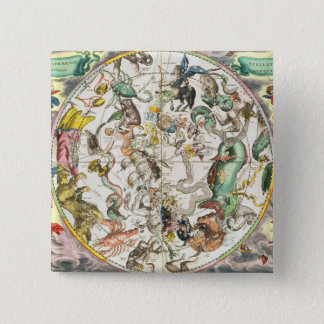 Map of the Southern Hemisphere, from 'The Celestia 15 Cm Square Badge