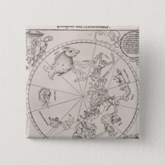 Map of the Southern Sky 15 Cm Square Badge