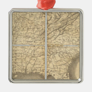 Map Of The Southern States Christmas Ornament