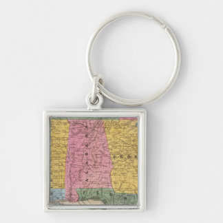 Map of the Southern States Key Ring