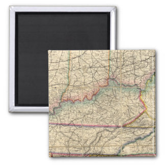 Map of The Southern States of America Square Magnet